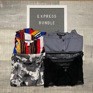 Express 4 Piece Bundle of Tops, 1 New With Tags